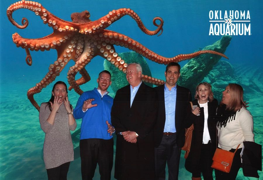 giant octopus with st louis aquarium team c