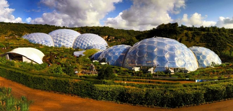 Eden Project domes in Cornwall