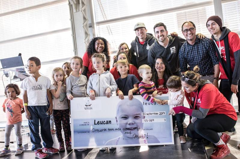 leucan journey cheque for leukemia charity