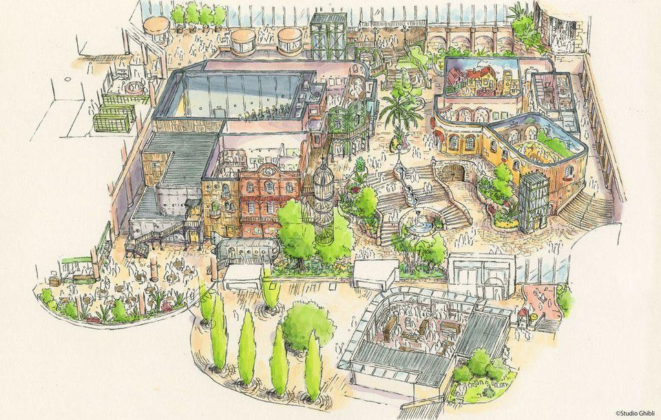 Ghibli park from Studio ghibli theme park concept art