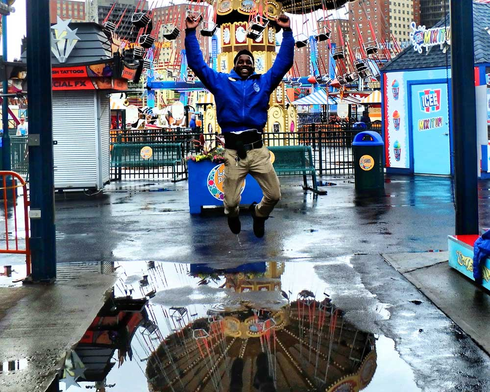 puddle man jump coney island Jim Mcdonnell