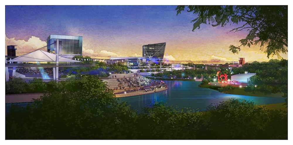 Jingshui River Park Project dusk