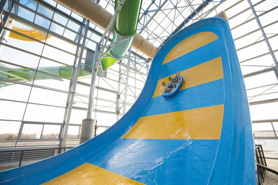 huge waterslide whitewater at Epic Waters indoor waterpark texas a