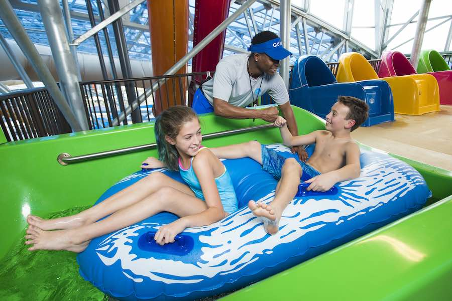 boy and girl at Epic Waters indoor waterpark texas