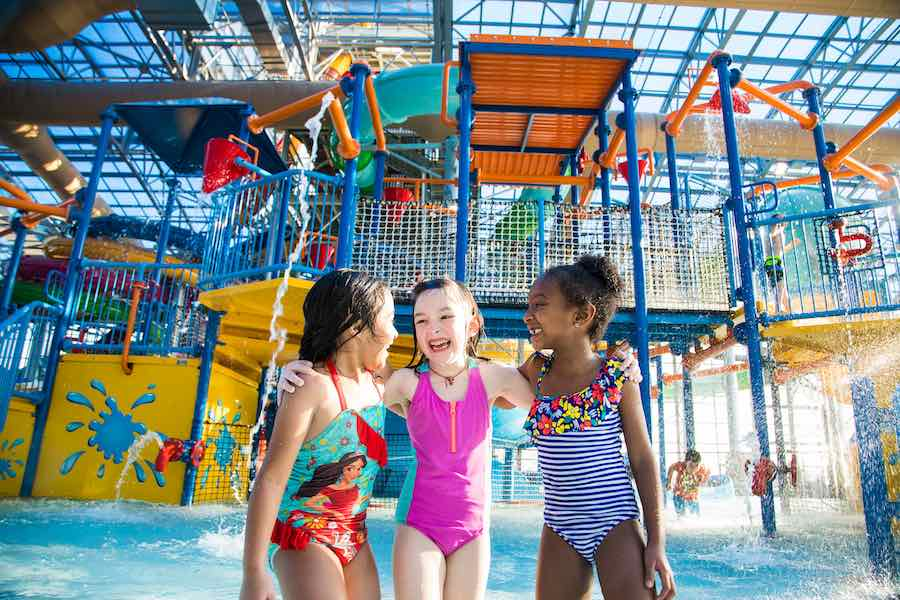 three girls at Epic Waters indoor waterpark texas