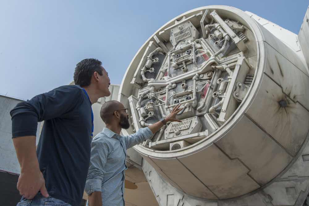 Millennium Falcon pictured under development for Stars- Galaxy's Edge