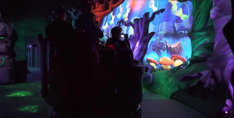 bazyliszek interactive dark ride at legendia regional theme park poland