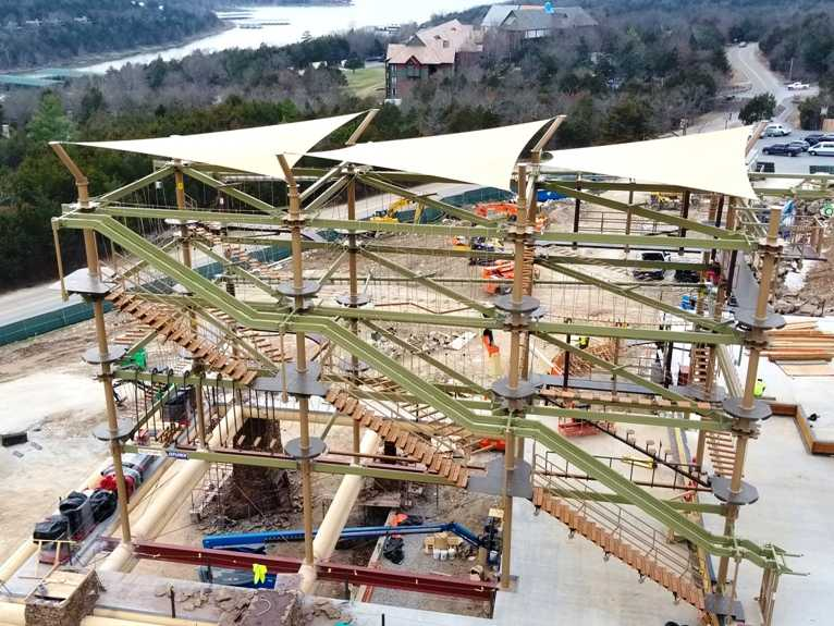 sky trail explorer under construction at big cedar lodge