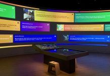 bible museum interactive display electrosonic