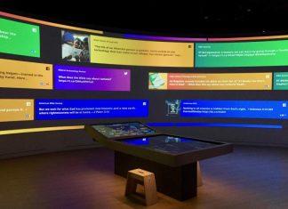 bible museum interactive display electrosonic