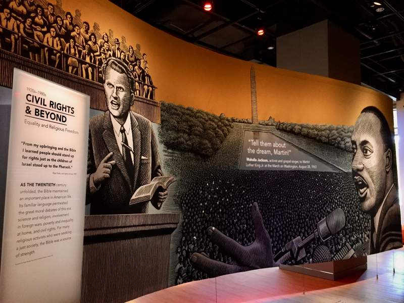 bible museum martin luther king display