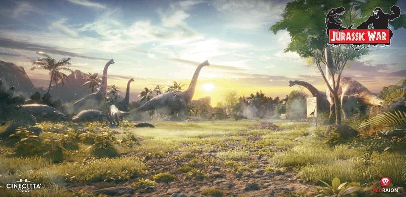 jurassic war dinosaurs roaming