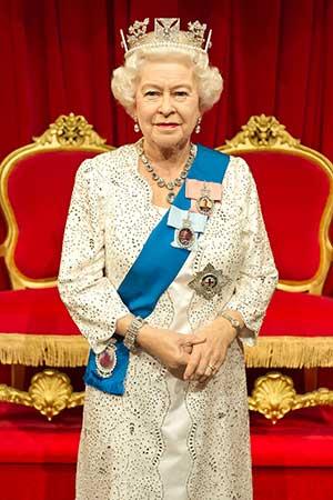 HRH Queen Elizabeth II waxwork