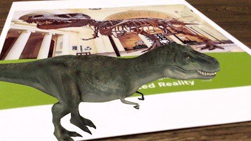 guru dinosaur ar augmented reality application aam museumexpo