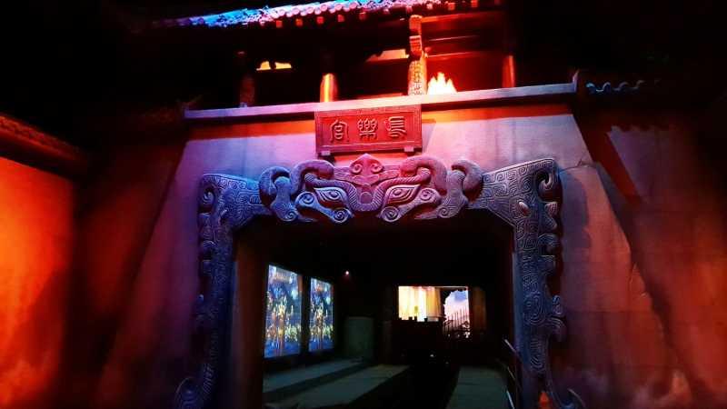 chinese gate in wanda qingdao roller coaster
