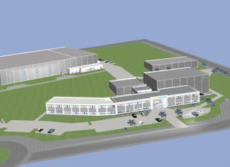 rendering of simtec manufactory and office expansion