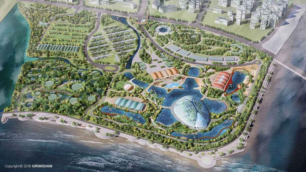 eden project international qingdao aerial cgi