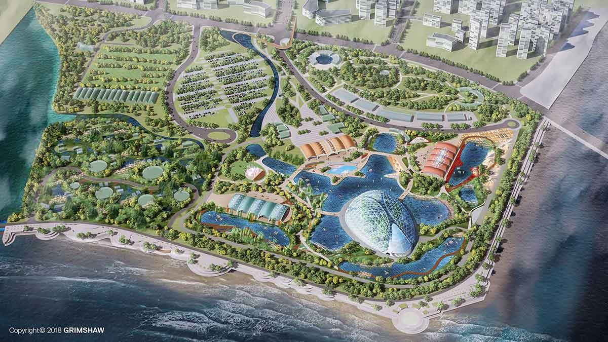 eden project qingdao aerial cgi