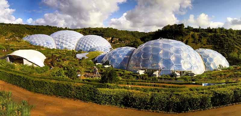 eden project biomes sun