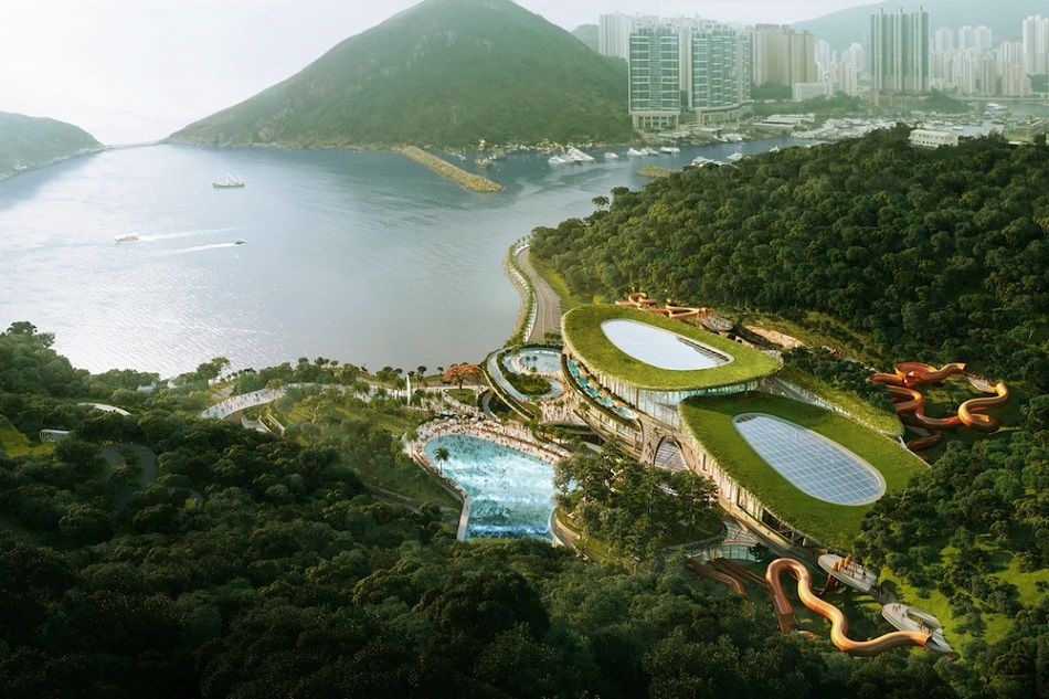 A rendering of Tai Shue Wan Water World.