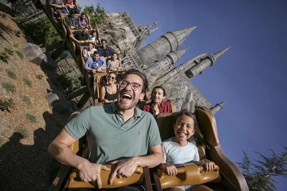Universal Studios Hollywood flight of the hippogriff roller coaster
