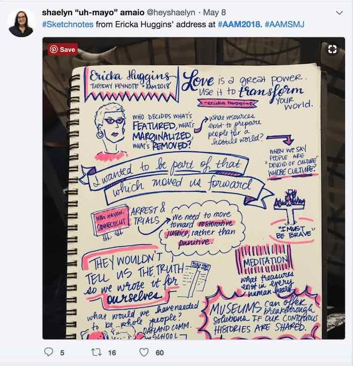Shaelyn Amaio Ericka Huggins Tweet AAM 2018