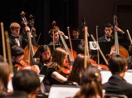 young musicians perform with the Asia American Symphony Association AASA
