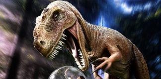 trex attacks buggie - the juice films dinotrek vr 4d adventure