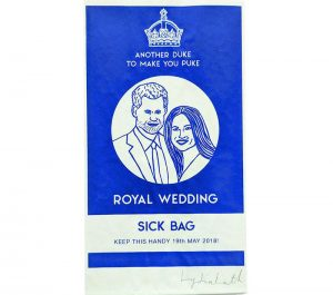harry and meghan sick bag