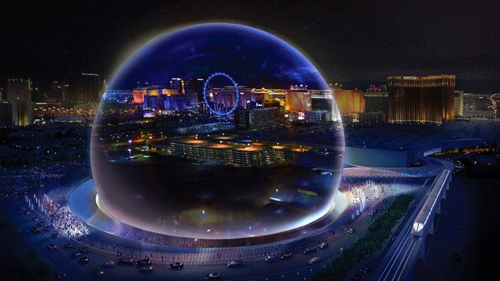 Madison Square Garden sphere arena las vegas sands