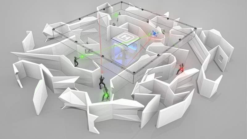 Drone Attack Drone Interactive Concept