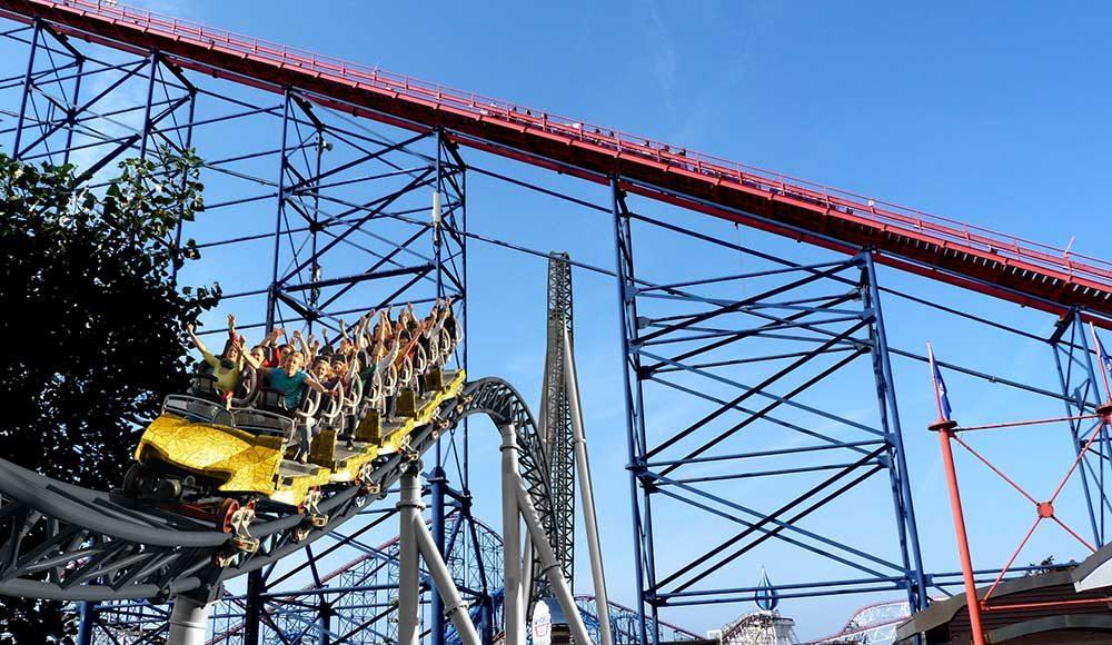 blackpool pleasure beach ICON rollercoaster by MACK