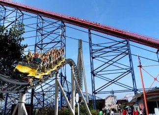 blackpool pleasure beach ICON rollercoaster by MACK