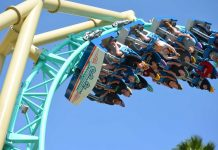 hangtime infinity coaster knotts berry farm supplied by ride entertainment