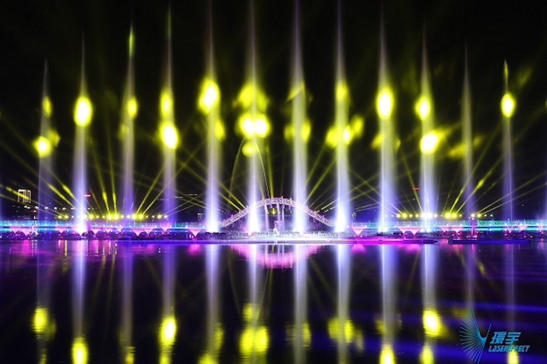 Lasereffects Water show china