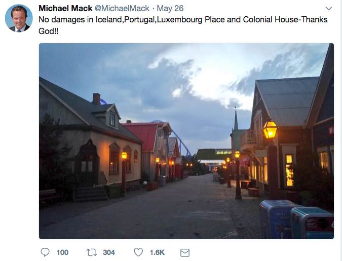 michael mack europa-park fire tweet damage scandinavia