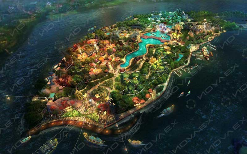 The Circle offline integrated resort from Novaex and the Magic Castle