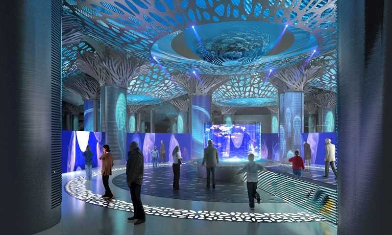 jellyfish interior futuristic blue