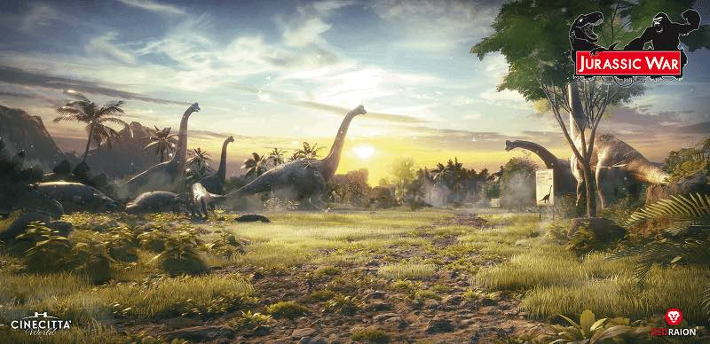 jurassic war dinosaurs roaming