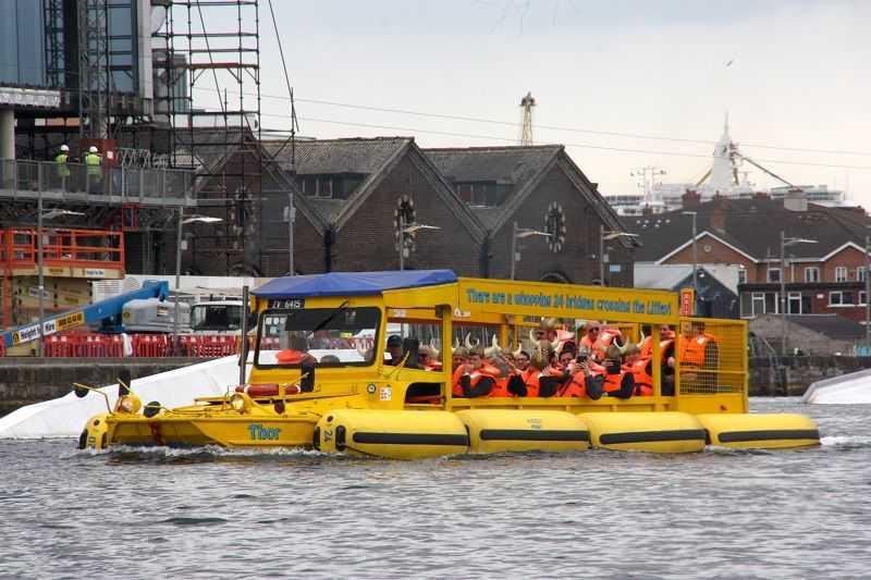 viking splash IAAPA EMEA Spring Forum Ireland DUKW in water