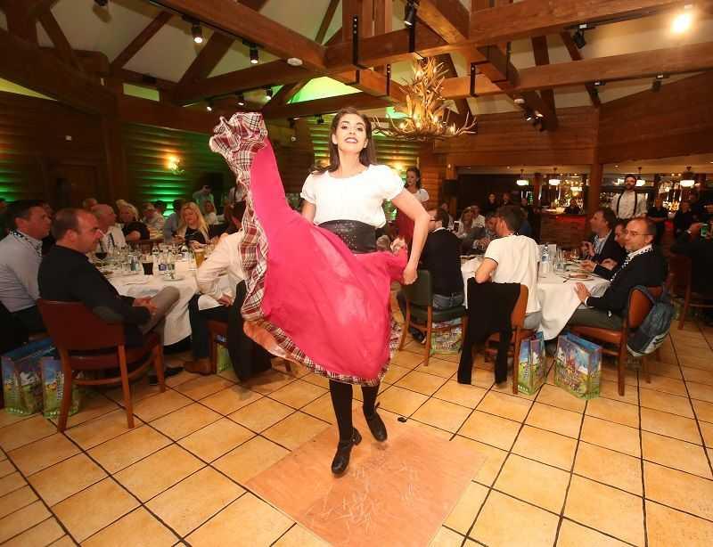 tayto park entertainment red dress dancer IAAPA EMEA Spring Forum Ireland