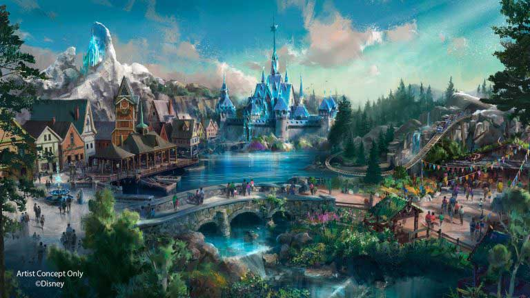 Hong Kong Disneyland Frozen land