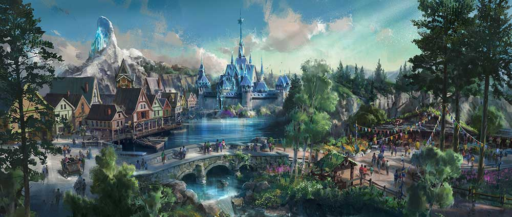 Hong Kong Disneyland Frozen first render