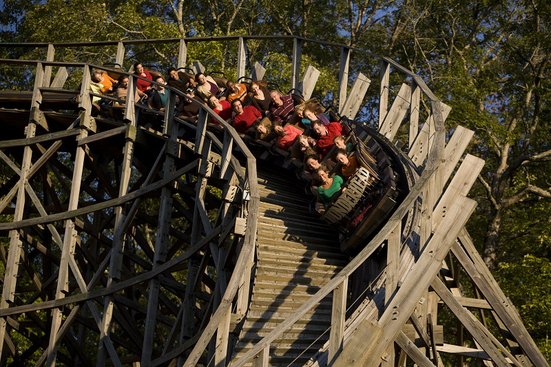 dollywood thunderhead rollercoaster