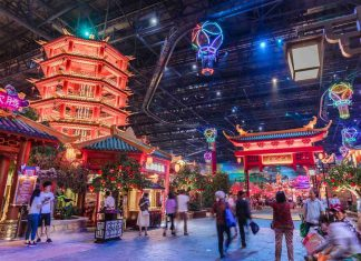 visitors explore wanda nanjing indoor theme park