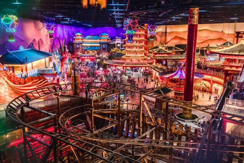 wanda nanjing indoor theme park monorail