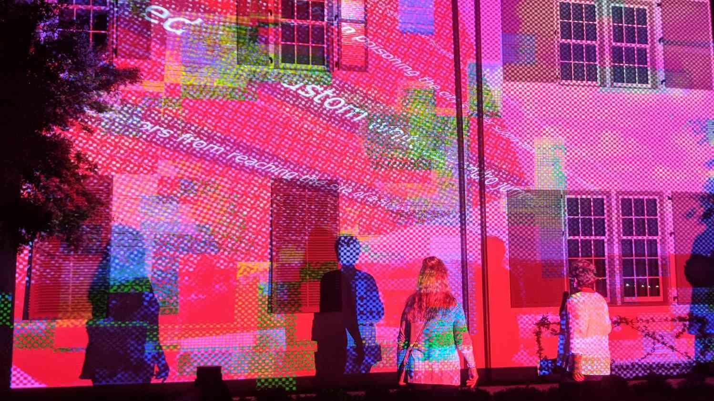 digital graffiti projection mapping by aoa