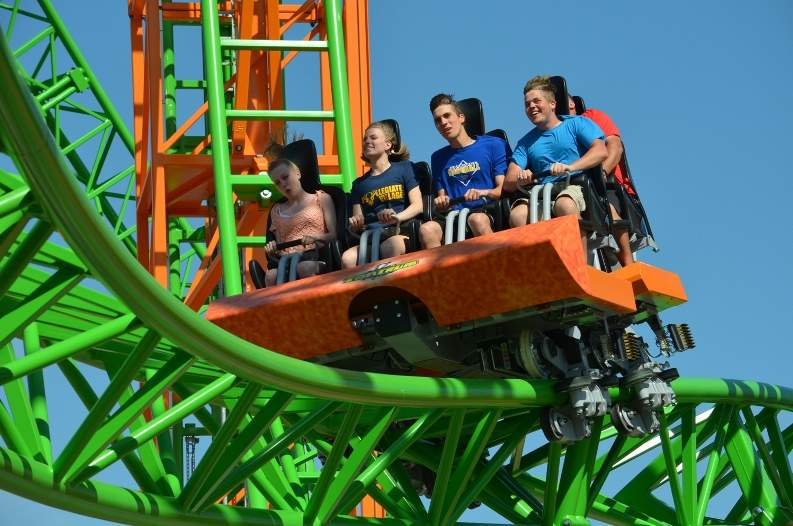 riders experience tantrum coaster at darien lake theme park