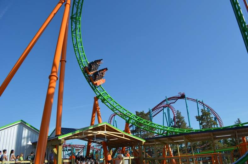 tantrum coaster at darien lake park new york