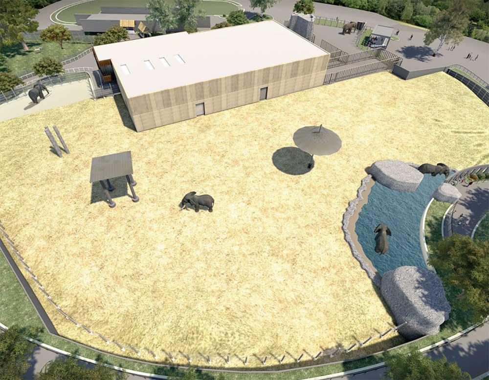 Milwaukee Zoo Windows to the Wild elephant enclosure